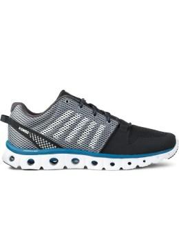 K-SWISS Black/Griffin/Mykonos Blue X Lite Shoes Picture