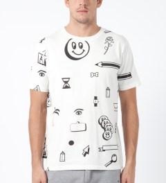 Lazy Oaf White Clip Art T-Shirt Model Picture