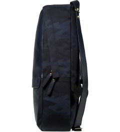 HAERFEST Blue Shell Backpack Model Picutre