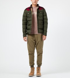 Penfield Olive Rockford Down Insulated Jacket Model Picture