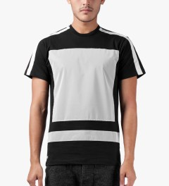 AMH Black Reflective Block Panel T-Shirt Model Picture