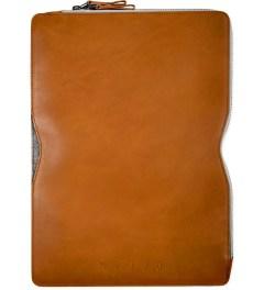 "MUJJO Tan 13"" Macbook Folio Sleeve Picture"