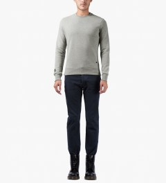 Surface to Air Grey Melange Classic Crewneck Sweater Model Picutre