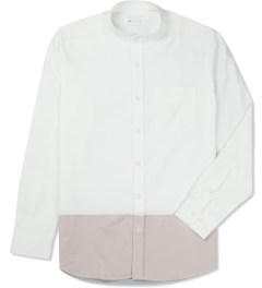 Liful White Colormixed Mandarin Collar Shirt Picture