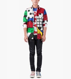 Lazy Oaf Multi Glitch L/S Shirt Model Picutre
