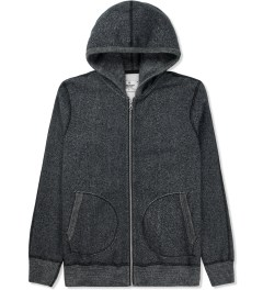 Reigning Champ Black/Natural RC-3257 Tiger Fleece L/S Zip Front Hoodie Picture