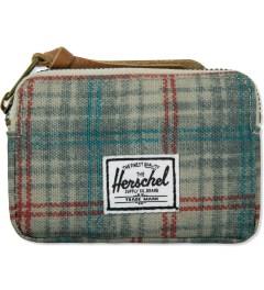 Herschel Supply Co. Grey Plaid Oxford Pouch Wallet Picutre