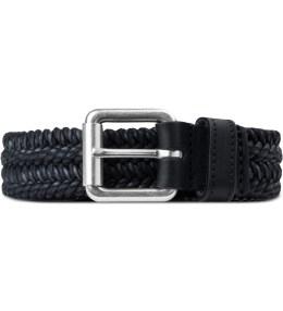 A.P.C. Black Palermo Woven Belt Picture