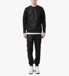 Christopher Raeburn Black Mesh Raglan Sweater Model Picutre