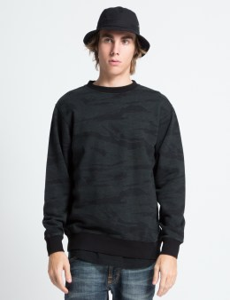 Black Scale Black Camo Couvre Crewneck Sweater Picture