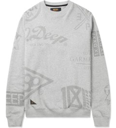 10.Deep Heather Grey Full Clip Crewneck Sweater Picutre