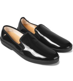 Rivieras Black Vinyl Slip-on Shoes Model Picutre