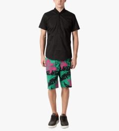 HUF Teal Copacabana Easy Shorts Model Picutre