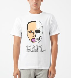 Odd Future White Earl Sweatskull T-Shirt Model Picture