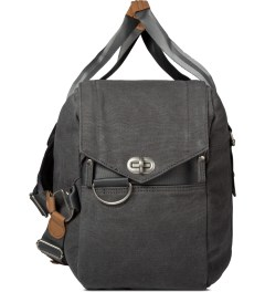 QWSTION Washed Grey Weekender Bag Model Picture