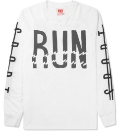ICNY White Run L/S Basic T-Shirt Picture