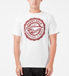 Benny Gold White Book Plane T-Shirt Model Picture