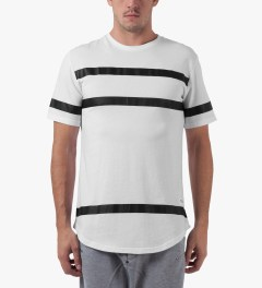 Stampd White Thin Stripe Elongated T-Shirt Model Picture