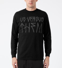 Us Versus Them Black Paulo L/S T-Shirt Model Picture