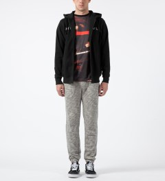 Black Scale Black Starphomet Zip Hoodie Model Picture