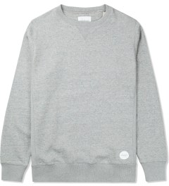 SATURDAYS Surf NYC Heather Grey Bowery Crewneck Sweater Picutre