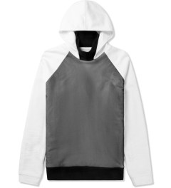 Kunz by Nicklas Kunz Black/White Turtle Neck Hooded Sweater Picutre