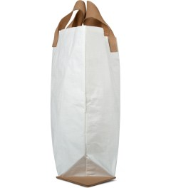 Hender Scheme White Vinyl Tote Bag Model Picture