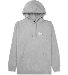 Stussy Heather Grey Basic Logo Hoodie Picture