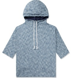 CLOT Blue ¾ Sleeve Hoodie. Picture