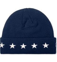 Undefeated Navy 5 Star Cuff Beanie Picutre