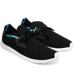 Native Jiffy Black/Shell White Rubber Apollo Moc Shoes Model Picture