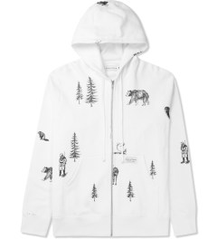 Raised by Wolves White Trap Life Zip-Up Hoodie Picture