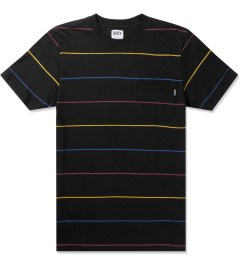 ONLY Black Primary Stripes Pocket T-Shirt Picture