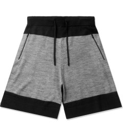 Hall of Fame Heather Grey/Black 4 Points Shorts Picutre