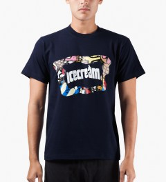 ICECREAM Navy S/S Mash T-Shirt Model Picutre