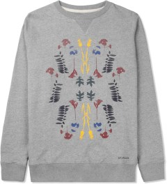 SATURDAYS Surf NYC Heather Grey Bowery Garden Sweater Picture