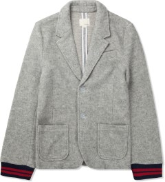 Band of Outsiders Light Grey Felted Fleece Schoolboy Blazer Picture
