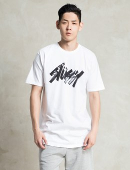 Stussy White Marker T-Shirt Picture