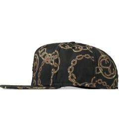 Stussy Black Bambooze Strapback Cap Model Picutre