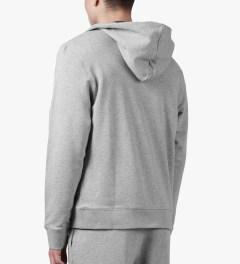 SUNSPEL Grey Melange Zip Front Hoodie Model Picutre