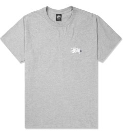 Stussy Heather Grey Basic Logo T-Shirt Picture
