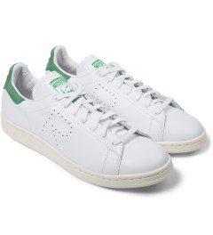 adidas Originals Raf Simons x Adidas Green/White Stan Smith Sneakers Model Picture