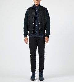Maison Kitsune Raw Western Shirt Model Picture