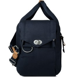 QWSTION Organic Navy Weekender Bag Model Picture