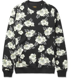 10.Deep Black Hibiscus Crewneck Sweater Picutre