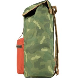 Poler Camo/Orange Field Pack Backpack Model Picutre