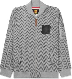 Undefeated Heather Grey HB Fleece MA1 Jacket Picture