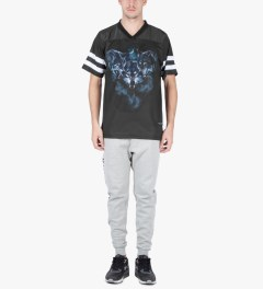 Raised by Wolves Black Wolfpack Football Jersey Model Picture