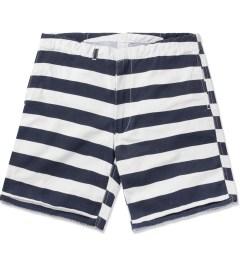 M.V.P. Navy/White 60/40 Stripe Surf Shorts Picutre