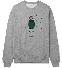 Carven Mottled Grey Little Chap Crewneck Sweater Picture